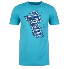 Teem's Shredding Edges bondi blue limited edition t-shirt