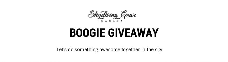 Skydiving Gear Canada Boogie Giveaway