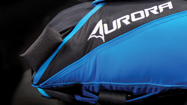 Wing suit specific pilot chute and handle for the Aurora Javelin